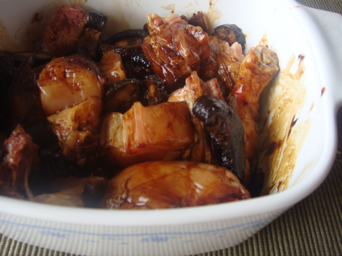 , mix chicken, mushroom, ginger, and Chinese sausage with the chicken ...