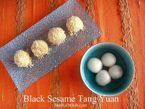 Black Sesame Tang Yuan (Black Sesame Glutinous Rice Balls)