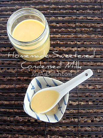 Homemade Sweetened Condensed Milk | JustAsDelish.com