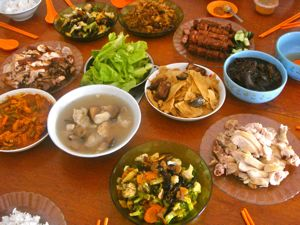 one of the dishes - Traditional Chinese New Year Food