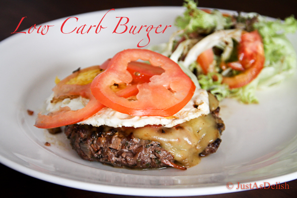 Low Carb Burger | JustAsDelish.com