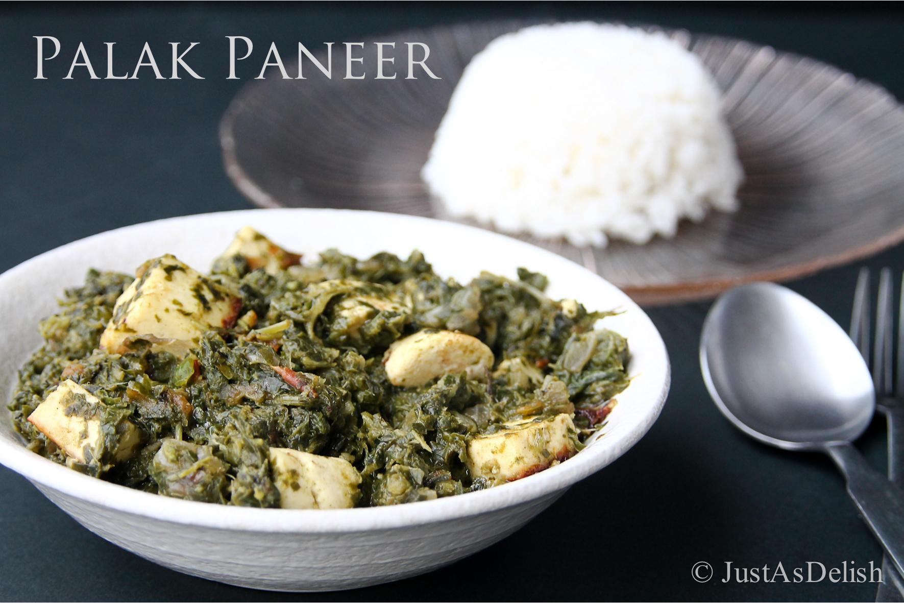 Palak paneer spinach paneer with homemade paneer justasdelish it forumfinder Image collections