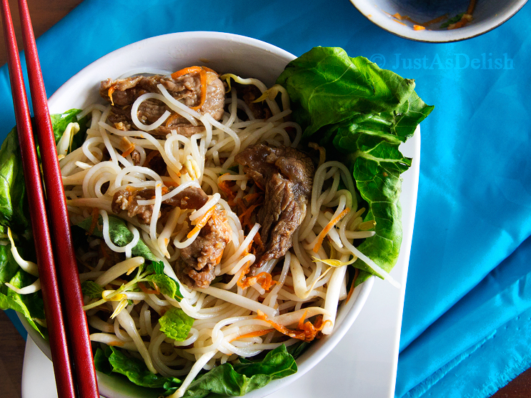 Grilled Lemongrass Beef Vermicelli
