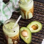 Avocado Shake with Chocolate Fudge