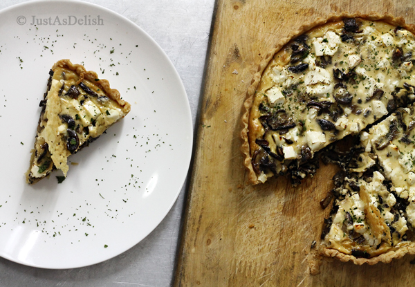 Wild Mushroom Quiche | Just As Delish