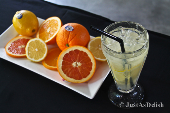 Sparkling California Sunkist Lemonade with Pandan & Ginger