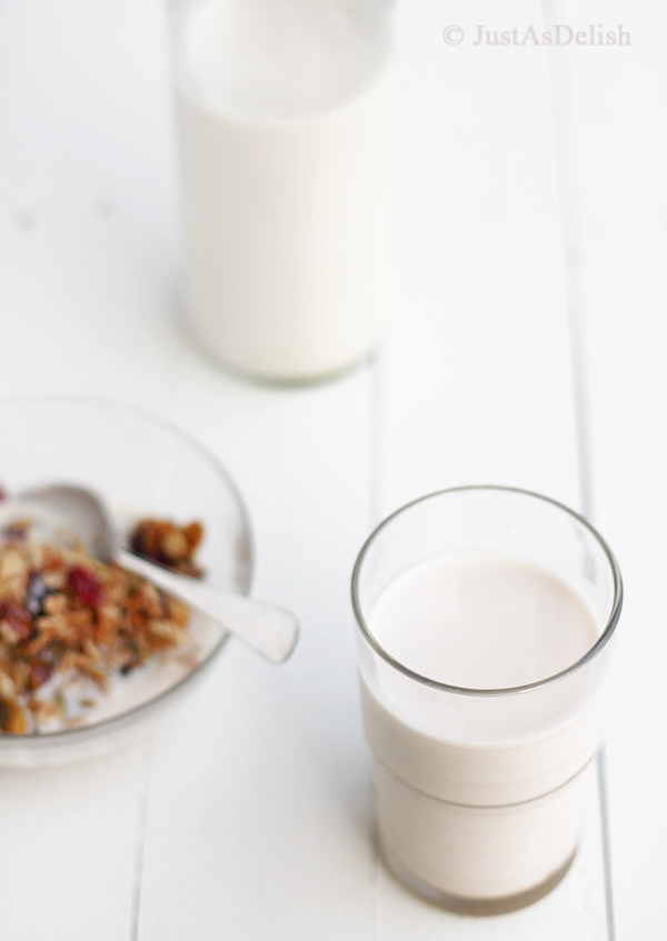 Homemade Almond Milk | JustAsDelish.com
