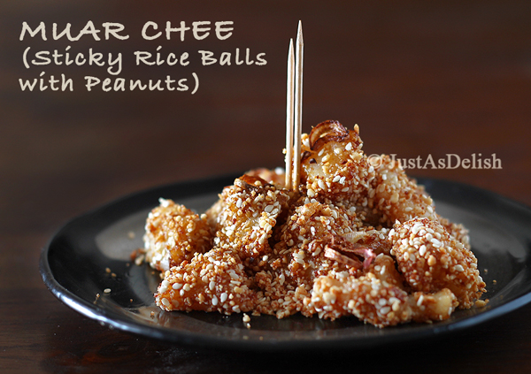 Penang Muar Chee (Sticky Rice Balls with Peanuts)