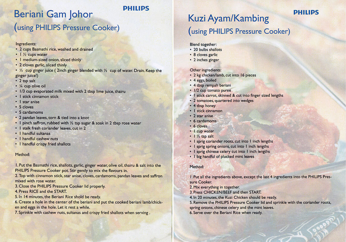Beriani Gam & Kuzi Ayam recipe