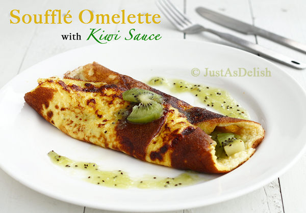 Ahh the sweet delicious breakfast omelette, sister to savoury omelette ...