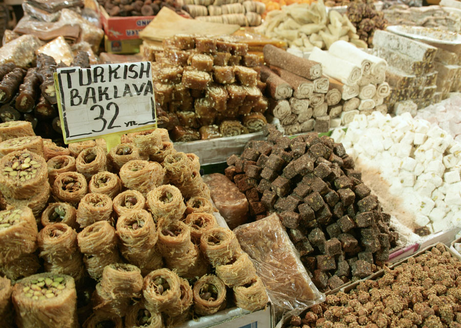 Assorted Turkish Baklava and sweets. Source: Insiderguide.com
