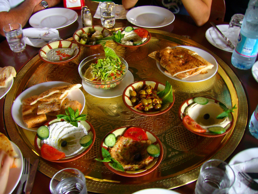 Variety of mezze. Source: Wikipedia