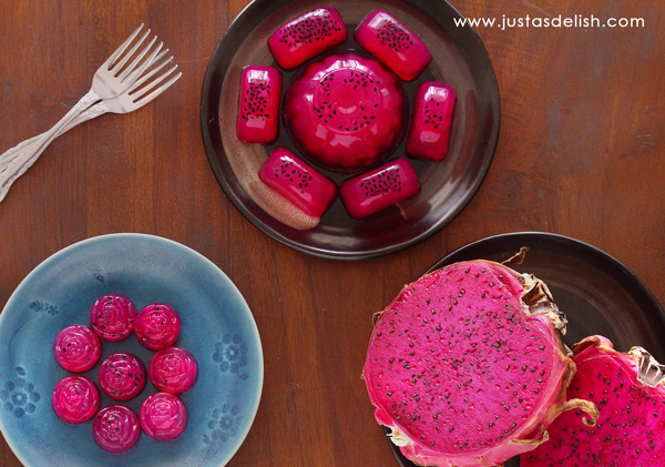 Dragon Fruit Agar Agar | JustAsDelish.com