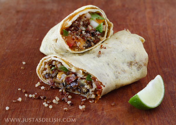 Quinoa Egg Wrap Breakfast Burrito