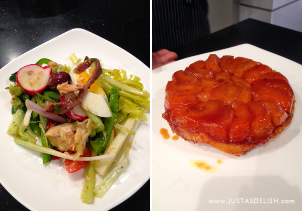 Nicoise Salad & Tatin Tart