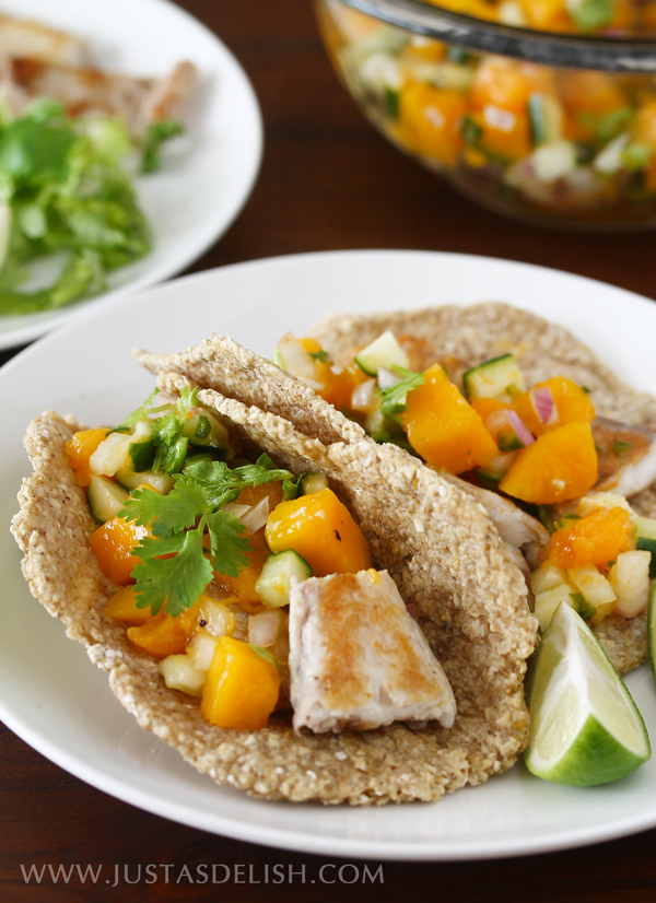 Oat Flatbread Fish Tacos