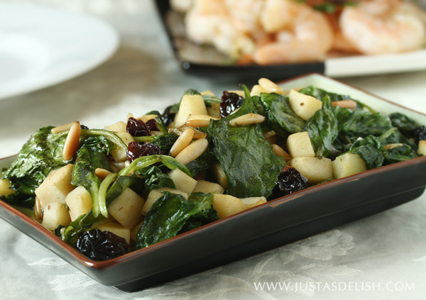 ... of classic Catalan Style Spinach with pine nuts, apple and raisins
