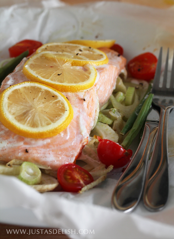 Baked Salmon Packets & Vegetable