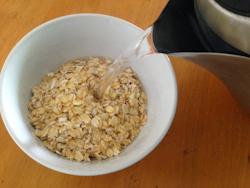 Savoury Miso Oatmeal