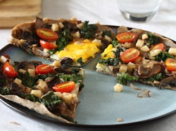 Vegetarian Buckwheat Pancake Pizza (Gluten Free)