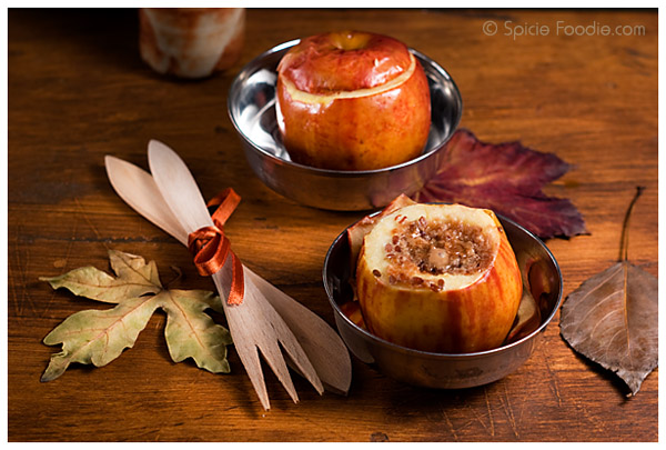 Almond Butter Baked Apples | Spicie Foodie