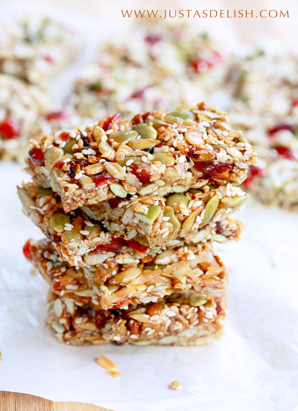 No Bake Coconut Cranberry Seed Bar