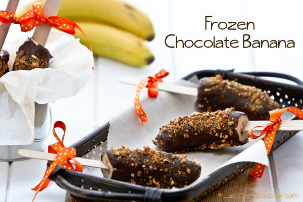 Frozen Chocolate Banana | JustOneCookbook