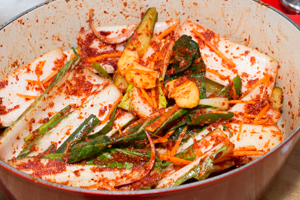 Bok Choy Kimchi with Cucumbers
