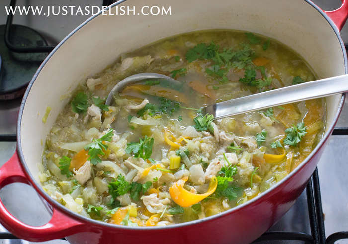 Green Minestrone | Justasdelish.com