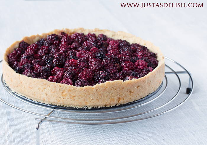 Wild Berry Tart with Buckwheat Almond Crust (Gluten Free) | Justasdelish.com