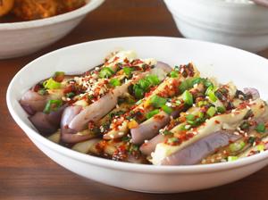 Korean Style Steamed Eggplants   Justasdelish.com