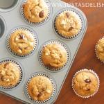 Banana Bread Muffins with Macadamia Nuts & Dark Chocolate (Gluten & Dairy Free)