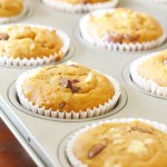 Banana Bread Muffins with Macadamia Nuts & Dark Chocolate (Gluten & Dairy Free)