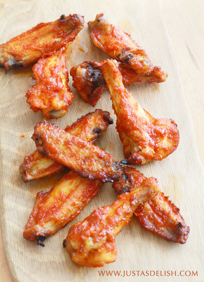 Spicy Baked Chicken Wings | Justasdelish.com