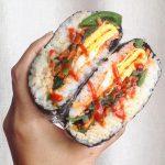 Teriyaki Salmon Onigizaru (Sushi Burger)