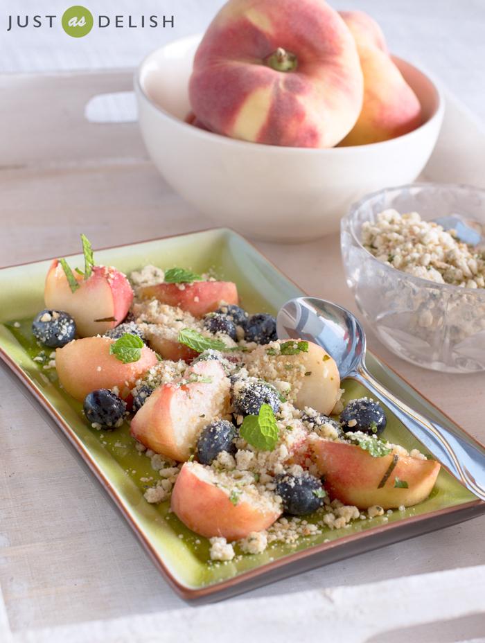 Fresh Fruit Crumble | Justasdelish.com