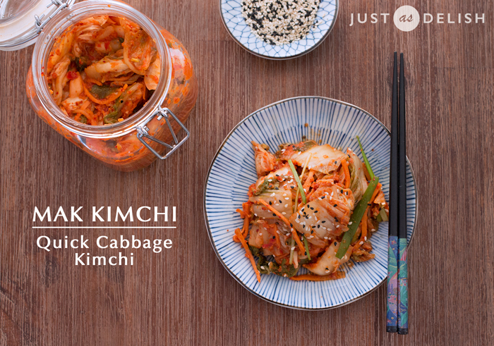Mak kimchi quick cabbage kimchi the spicy addictive for Absolutely delish cuisine