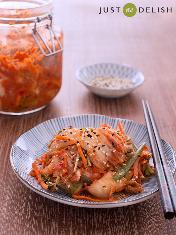 Mak Kimchi (Quick Cabbage Kimchi) | JustAsDelish.com