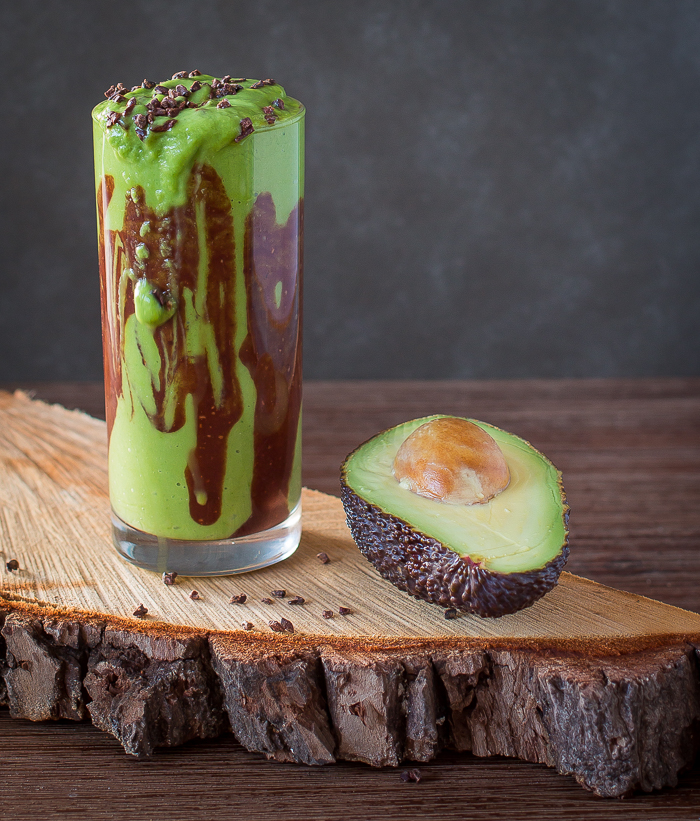 Avocado Shake with Chocolate Fudge